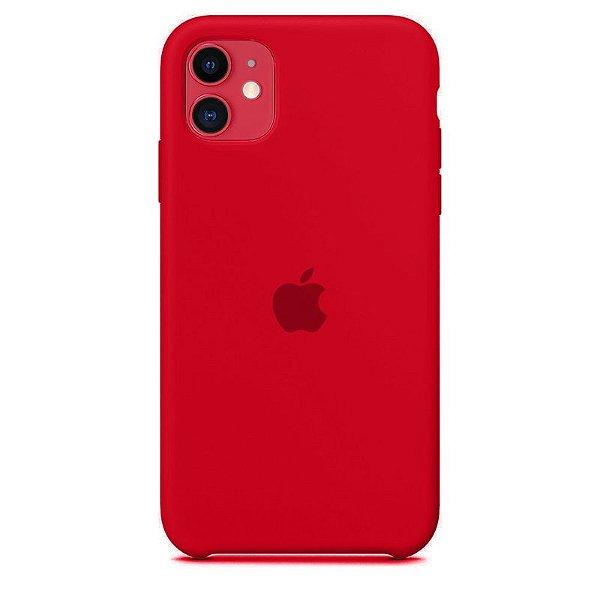 Case Capinha Vermelha para iPhone 11 de Silicone - 5SD6Y2010