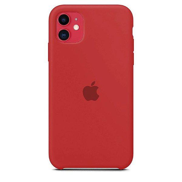 Case Capinha Vermelho Antigo para iPhone 11 de Silicone - WJCL7V9E0