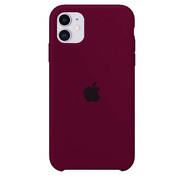 Case Capinha Vermelho Bordô para iPhone 11 de Silicone - X5VO6E5GD