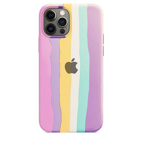 Case Capinha Pride Arco-Íris 1 para iPhone 12 e 12 Pro de Silicone - DT2H1JY0H