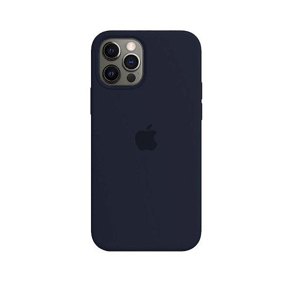 Case Capinha Azul Cobalto para iPhone 12 e 12 Pro de Silicone - UVYLV50HL