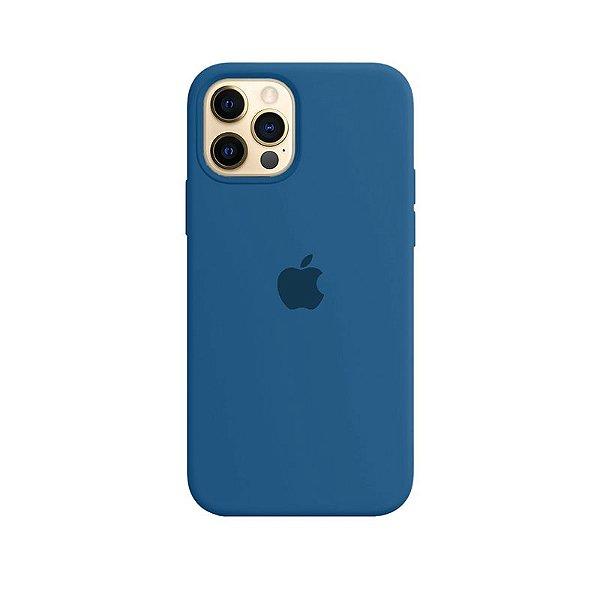 Case Capinha Azul Holandês para iPhone 12 e 12 Pro de Silicone - EJUJSMDB3