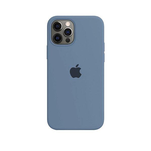 Case Capinha Cinza Azulado para iPhone 12 e 12 Pro de Silicone - EI5X6WKNT