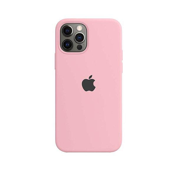 Case Capinha Rosa Chiclete para iPhone 12 e 12 Pro de Silicone - PAB17J6DQ