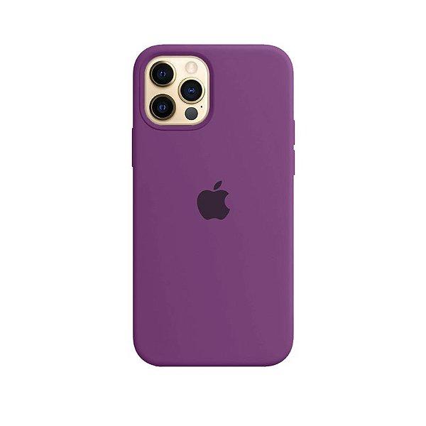 Case Capinha Roxa para iPhone 12 e 12 Pro de Silicone - GV2HTRP47