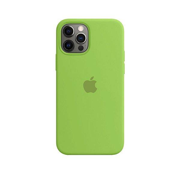 Case Capinha Verde para iPhone 12 e 12 Pro de Silicone - PKB2SMXOI
