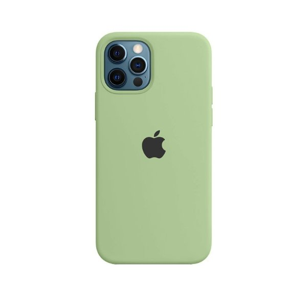 Case Capinha Verde Menta para iPhone 12 e 12 Pro de Silicone - KFJQTJOGN