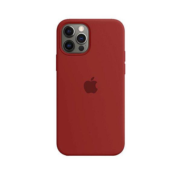 Case Capinha Vermelho Escuro para iPhone 12 e 12 Pro de Silicone - 0Q380R04S