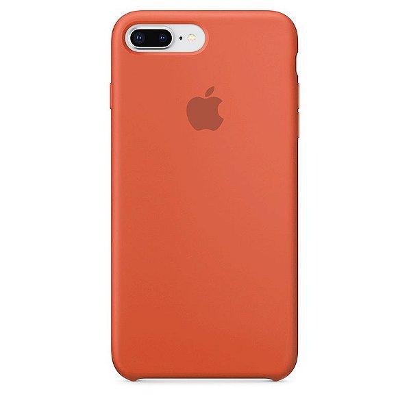 Case Capinha Laranja para iPhone 7 Plus e 8 Plus de Silicone - UJ3MVX40Z