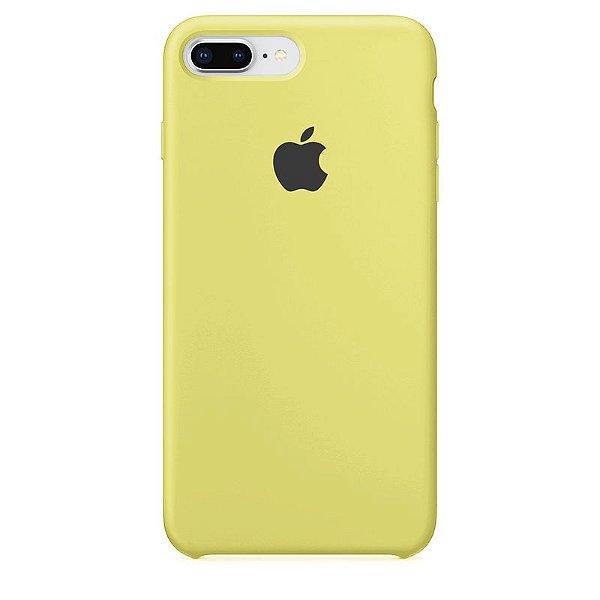 Case Capinha Amarelo Limão para iPhone 7 Plus e 8 Plus de Silicone - 3EENJGCS8