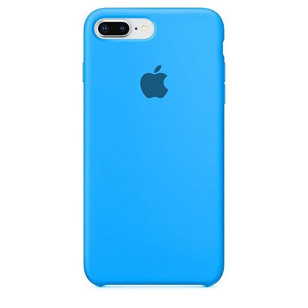 Case Capinha Azul Piscina para iPhone 7 Plus e 8 Plus de Silicone - ZG706M0C0