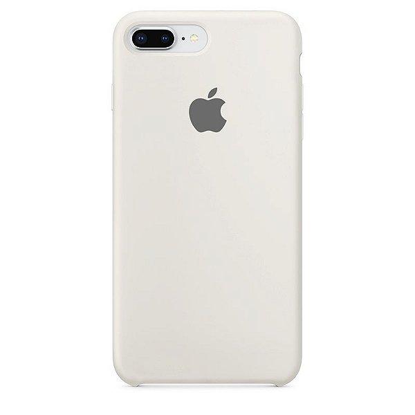 Case Capinha Branco Off-White para iPhone 7 Plus e 8 Plus de Silicone - SLJAS0176