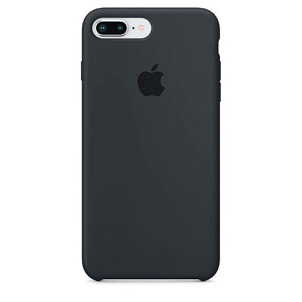 Case Capinha Cinza Escuro para iPhone 7 Plus e 8 Plus de Silicone - 8I6GE5XVT