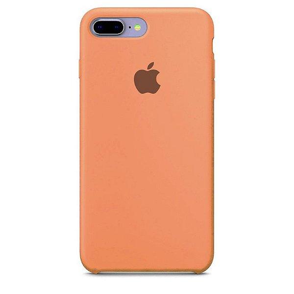 Case Capinha Rosa Pêssego para iPhone 7 Plus e 8 Plus de Silicone - MV3DGDEDU