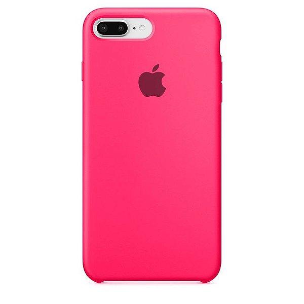 Case Capinha Rosa Pink para iPhone 7 Plus e 8 Plus de Silicone - S113OQPBR