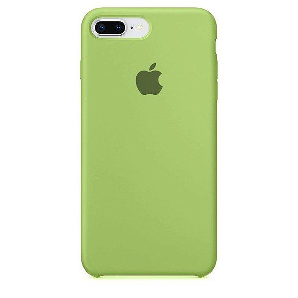 Case Capinha Verde Menta para iPhone 7 Plus e 8 Plus de Silicone - Z2CXXPJNQ