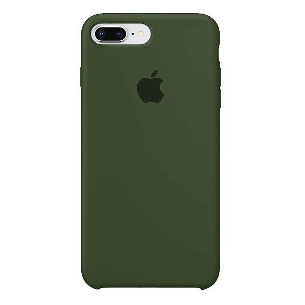 Case Capinha Verde Militar para iPhone 7 Plus e 8 Plus de Silicone - H6EQI1DSR