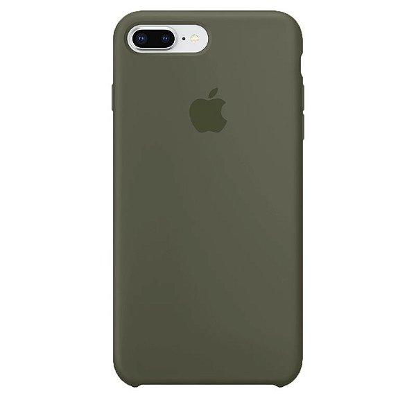 Case Capinha Verde Musgo para iPhone 7 Plus e 8 Plus de Silicone - MD4QC4WMG