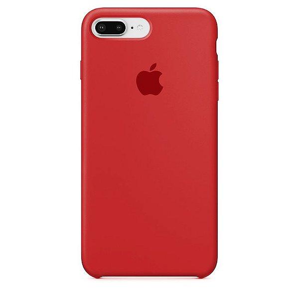 Case Capinha Vermelha para iPhone 7 Plus e 8 Plus de Silicone - 520L5VDGN