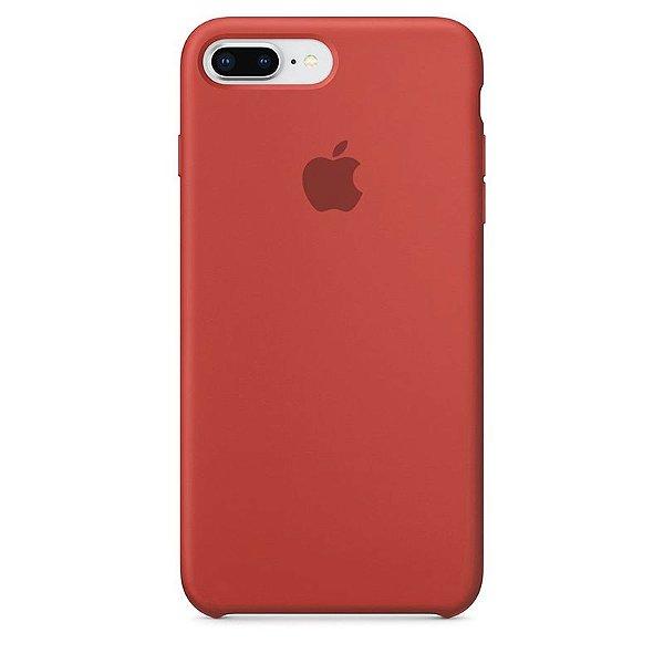 Case Capinha Vermelho Antigo para iPhone 7 Plus e 8 Plus de Silicone - SX6HNAXO0