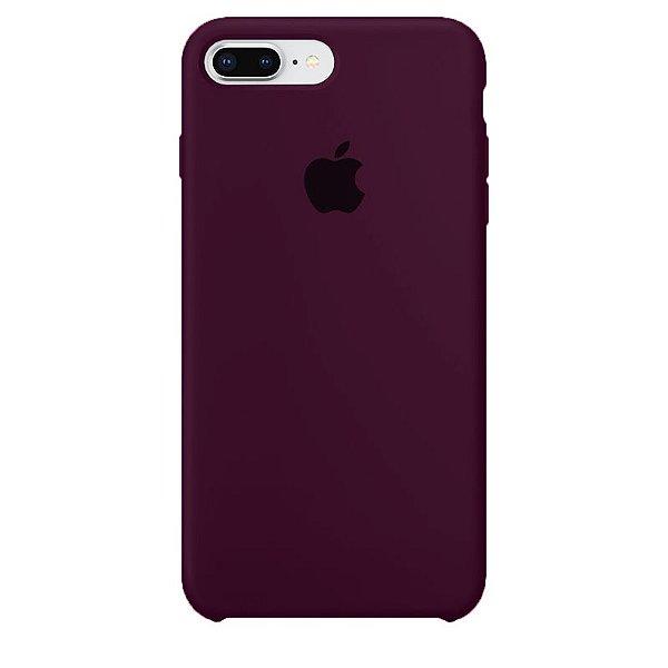 Case Capinha Vermelho Bordô para iPhone 7 Plus e 8 Plus de Silicone - ODT4QVYAO