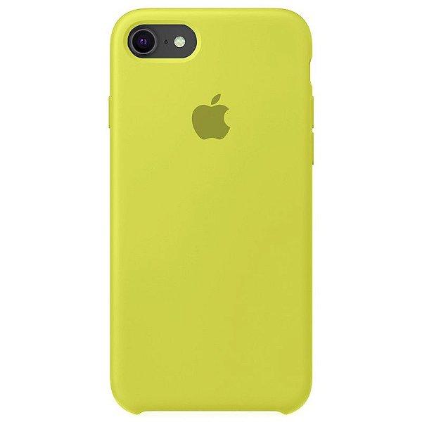 Case Capinha Amarelo Limão para iPhone 7, 8 e SE 2º Geração de Silicone - GOYH1QTMO