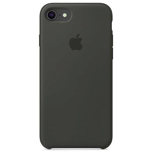 Case Capinha Cinza Escuro para iPhone 7, 8 e SE 2º Geração de Silicone - BVOEMNHRE