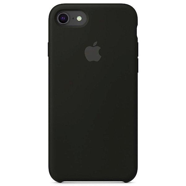 Case Capinha Preta para iPhone 7, 8 e SE 2º Geração de Silicone - 86EOX2QL7