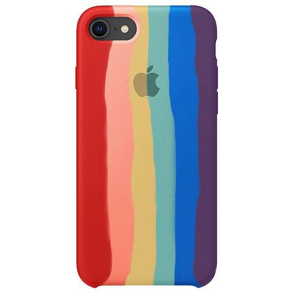 Case Capinha Pride Arco-Íris para iPhone 7, 8 e SE 2º Geração de Silicone - 9VDXZ1ZUC