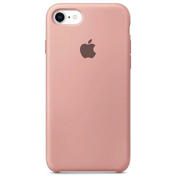 Case Capinha Rosa Chiclete para iPhone 7, 8 e SE 2º Geração de Silicone - W3DOEW6XH