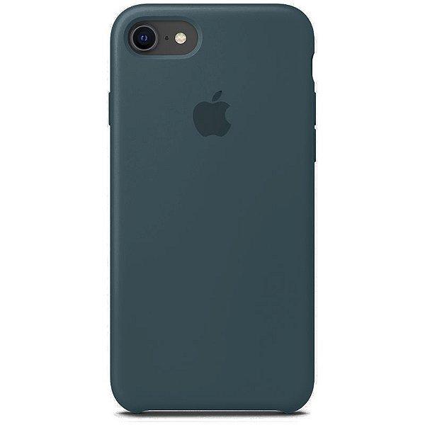 Case Capinha Verde Marinho para iPhone 7, 8 e SE 2º Geração de Silicone - D5ZDBEBD3