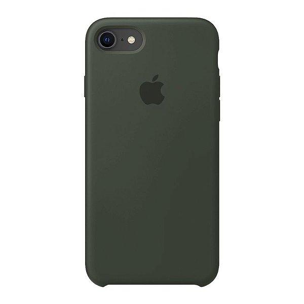 Case Capinha Verde Militar para iPhone 7, 8 e SE 2º Geração de Silicone - NOGMC6TA8