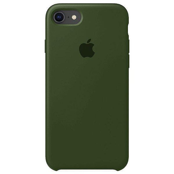 Case Capinha Verde Musgo para iPhone 7, 8 e SE 2º Geração de Silicone - HSLJO9KX9