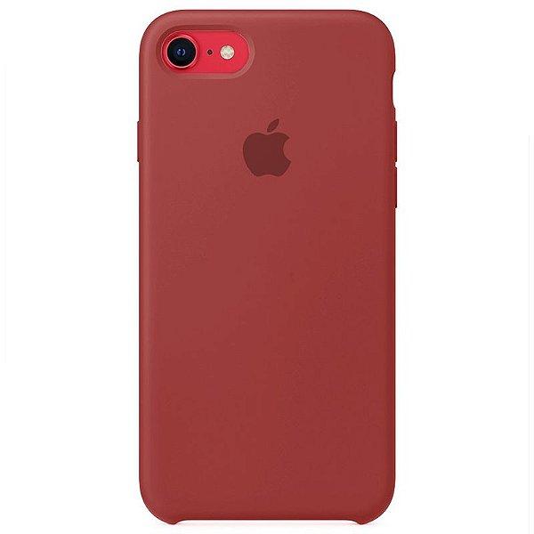 Case Capinha Vermelho Antigo para iPhone 7, 8 e SE 2º Geração de Silicone - LW52T0FLA