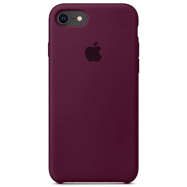 Case Capinha Vermelho Bordô para iPhone 7, 8 e SE 2º Geração de Silicone - S1ZO8N737