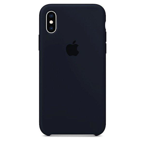 Case Capinha Azul Cobalto para iPhone X e XS de Silicone - N5ND6P40R