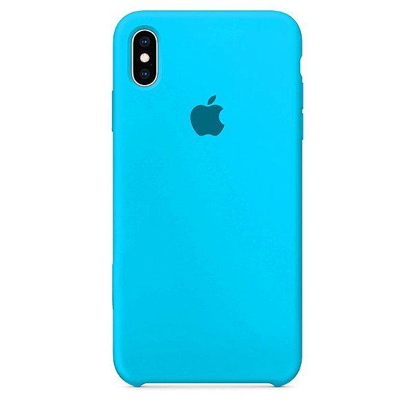 Case Capinha Azul Piscina para iPhone X e XS de Silicone - XMYLBA258