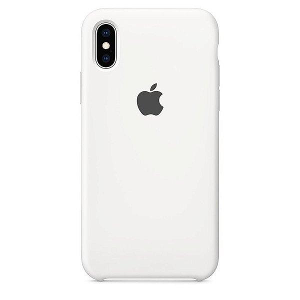 Case Capinha Branca para iPhone X e XS de Silicone - UUFBTDUFW
