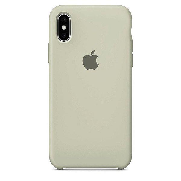Case Capinha Cinza para iPhone X e XS de Silicone - Q7FWRWRBB