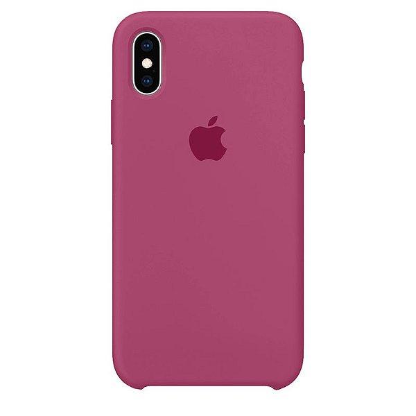 Case Capinha Rosa Hibisco para iPhone X e XS de Silicone - VOSVFCYSV