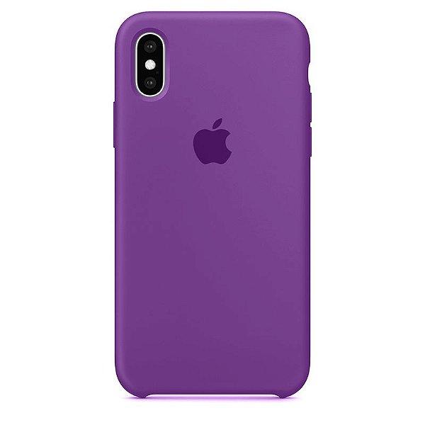 Case Capinha Roxa para iPhone X e XS de Silicone - W7MQYO4AJ