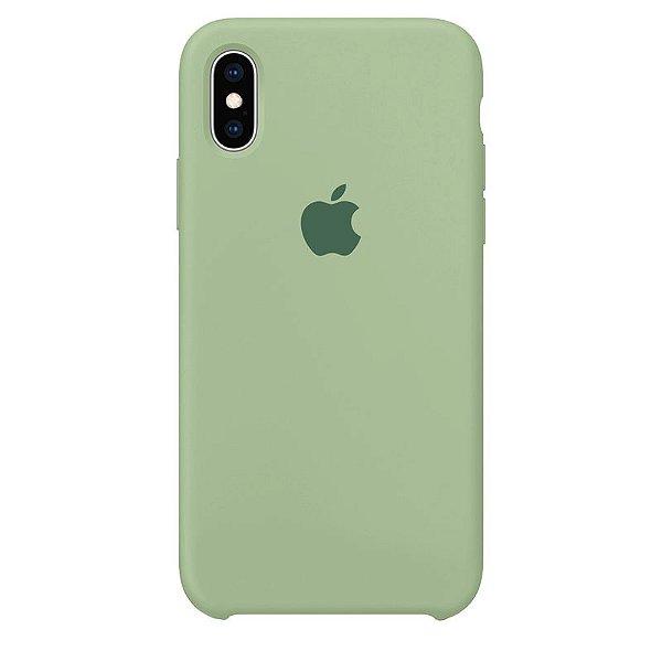 Case Capinha Verde Menta para iPhone X e XS de Silicone - 65VDZ5L7Y