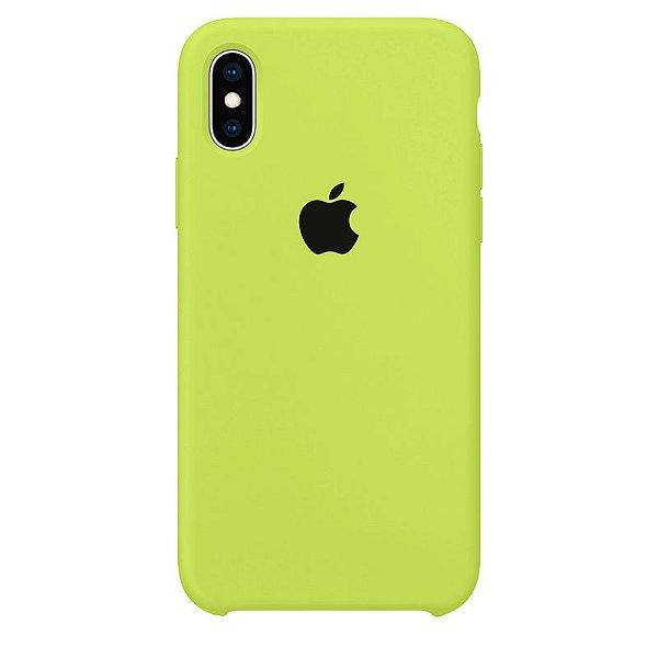 Case Capinha Verde Neon para iPhone X e XS de Silicone - NIYV1I20J