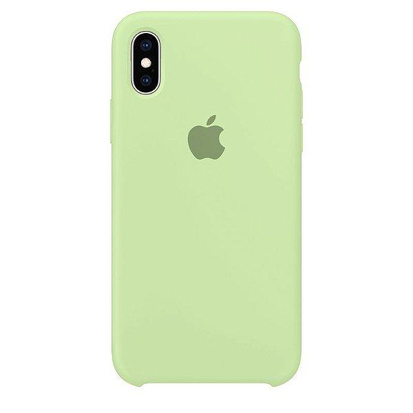 Case Capinha Verde Pistache para iPhone X e XS de Silicone - X937MVDZJ