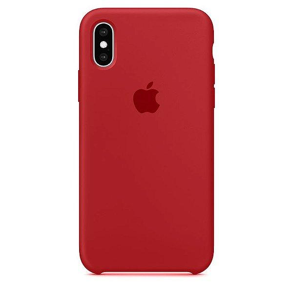Case Capinha Vermelha para iPhone X e XS de Silicone - T8UX7K2T3