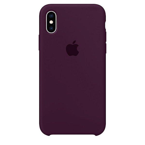 Case Capinha Vermelho Bordô para iPhone X e XS de Silicone - 2J4CCRPKP