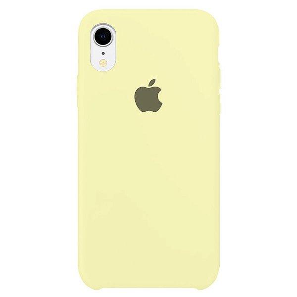 Case Capinha Amarelo Claro para iPhone XR de Silicone - LFFHFXZHY