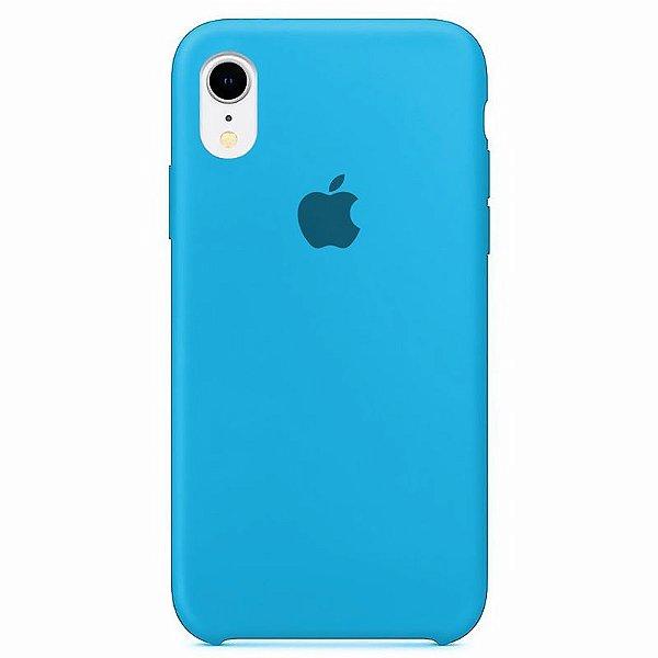 Case Capinha Azul Piscina para iPhone XR de Silicone - 7P14P4R9C