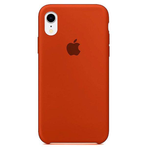 Case Capinha Laranja para iPhone XR de Silicone - TQZGJBQ8K