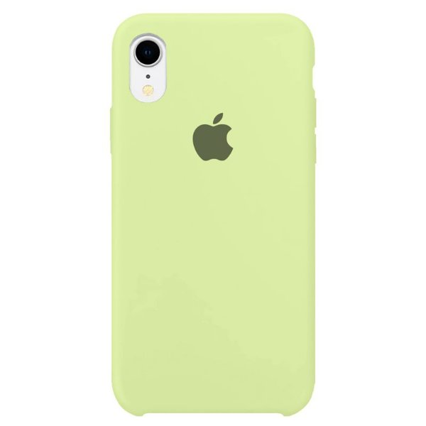 Case Capinha Verde Pistache para iPhone XR de Silicone - CFGOQ4K3H